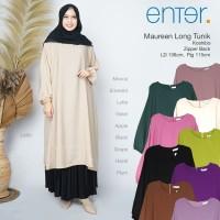 baju atasan maureen super jumbo long tunik muslim wanita simple cantik