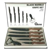 OXONE BLACK MARBEL KNIFE SET OX-605 Pisau