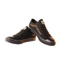 Sepatu Sneakers Unisex Oto Vans Classic Skool Full Black - Grey