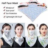 Masker Kain Wajah Leher Sifon Scarf Syal / Half Face Fashionable Mask