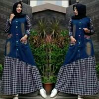 Gamis Jeans Amira Maxy / Dress / Baju Muslim / Pakaian Wanita Terbaru