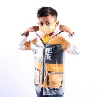 Twist Kids - Rain Coat, Jaket Pelindung Diri Bening Panjang