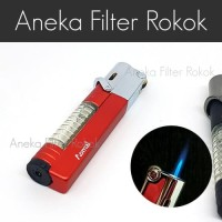 Korek Api Bara Single Jet Flame Lighter Lock AOMAI AM7108