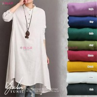 baju atasan yeslin tunik muslim wanita simple casual santai trendy top