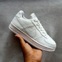 sepatu nike force putih polos
