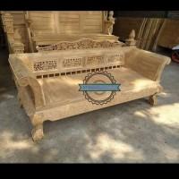 Kursi panjang/ Bale - bale dayben ukir mentahan kayu jati furniture