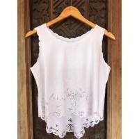 baju atasan tank top wanita handmade bordir lace bali