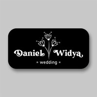 Stiker Label Souvenir Pernikahan Sticker Nama Penganten Wedding Model2