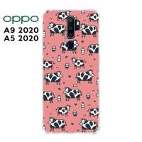 Casing OPPO A9 2020 / A5 2020 Softcase Anticrack Motif Sapi Lucu 14