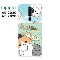 Casing OPPO A9 2020 / A5 2020 Softcase Anticrack Motif Kucing Lucu 32
