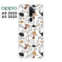 Casing OPPO A9 2020 / A5 2020 Softcase Anticrack Motif Kucing Lucu 30