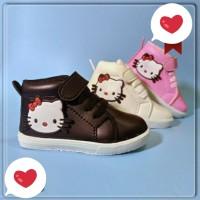 Sepatu Boots Anak Bayi Batita Balita Hello Kitty 3D Casual Tali Prepet