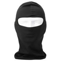 Full Face Spandex Masker Motor Balaclava Aksesoris Pengendara Motor - Hitam
