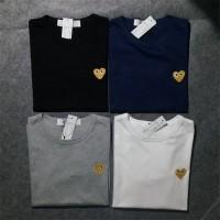 kaos / t-shirt PLAY CDG GOLD SERIES - bordir #premium highquality