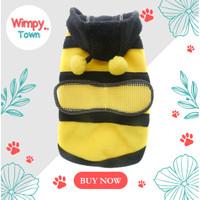 Baju anjing kucing hewan peliharaan lebah bumbleebee kostum hewan