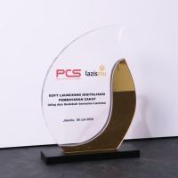 Plakat Akrilik Diamond   Piagam Penghargaan   Trophy Akrilik Custom