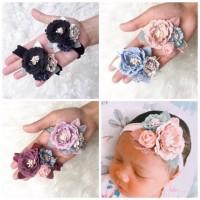 Bandana Bayi/Bando Bayi/Nylon Headband/Newborn Baby Headband HP_1031 - Peach