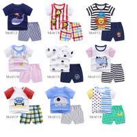 Baju Bayi Anak / Setelan Pendek Bayi / Kaos Bayi Imut
