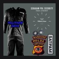 RPM BAJU SERAGAM PDL SECURITY HITAM SATPAM KEAMANAN PDH