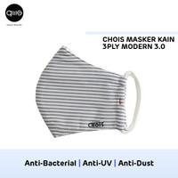Chois Masker Kain 3ply - Blue Strip, M