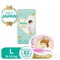 Pampers Premium Care Pants L62 L 62 Popok Celana