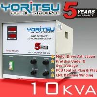 Stabilizer Listrik 10000 watt Yoritsu Digital 1 Phase