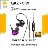 QKZ CK9 Sport HiFi Dual Speaker Earphone Headset with Mic