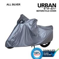 cover sarung selimut motor URBAN jumbo tiger xl honda yamaha scorpio - All Silver