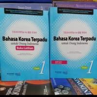 1 paket buku Bahasa Korea Terpadu Buku Latihan Dasar 1