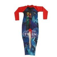 Baju renang anak cewek panjang usia 5-9 tahun karakter frozen , diving