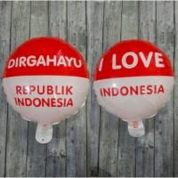 Balon Foil Dirgahayu BULAT ukuran 40 CM / Balon HUT RI 17 Agustus