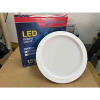 lampu downlight panel LED 12w/15w/18w bulat inbow down light panel - 15watt