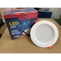 lampu downlight panel LED 5w/7w/9w bulat inbow down light panel - 7watt