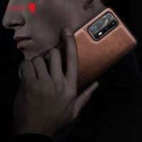Leather Case Huawei P40 X-LEVEL Premium Case Original - Brown