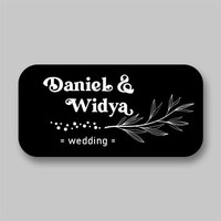 Stiker Label Souvenir Pernikahan Sticker Nama Penganten Wedding Model3