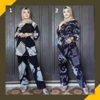 Piyama Batik Muslimah Baju Tidur Wanita Celana Panjang Rayon Murah