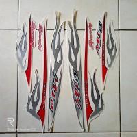 stiker striping motor yamaha mio sporty api 2006 putih