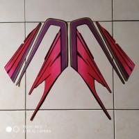stiker striping motor yamaha rx king 1995 merah
