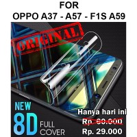 Oppo A57 A39 - F1s A59 full layar cover not tempered glass HYDROGEL - F1s
