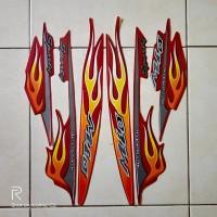 stiker striping motor yamaha mio sporty api 2006 merah