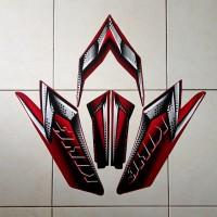 Stiker Striping Motor Rx King 2008 Merah