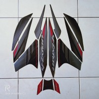 stiker striping motor yamaha vixion new 2014 hitam