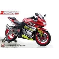 Decal Stiker Kawasaki Ninja 250 Karbu RR Racing Merah