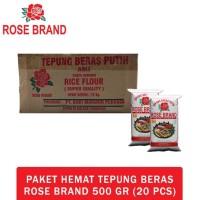 Hot Produk Paket Hemat Tepung Beras Rose Brand 500 Gram (1 Dus)