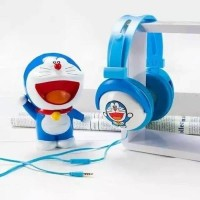 Headphone Bando Karakter DORAEMON Headset Anak Handsfree Murah Headset