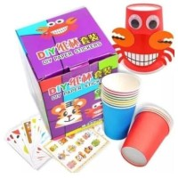 DIY Tempel Gelas-Mainan anak-Montessori-Sticker Gelas-Art craft