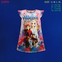 (DS049) Daster Anak Frozen Beautiful Dream (Usia 5-9 Tahun)