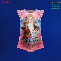 (DK038) Daster Anak Frozen Beautiful Dream Usia 2-5 Tahun