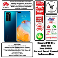 Huawei P40 Pro 8GB/256GB P 40 Pro 8/256 GB P 40Pro 8/256GB Resmi-Blue