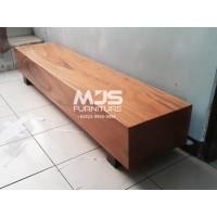 bangku kayu balok trembesi kotak log bench 200cm bangku tunggu lobby